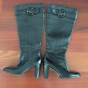 Banana Republic Leather Heel Boots
